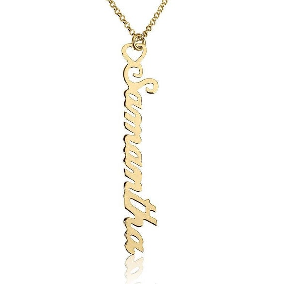 personalized vertical name necklace customized name necklace