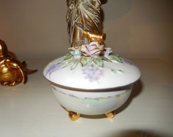 HAND PAINTED BOWL with Lid