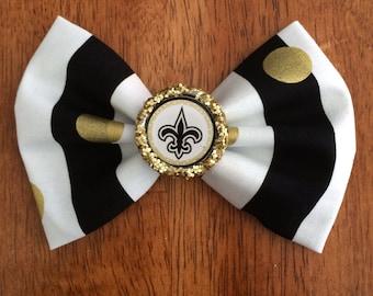 handmade new orleans saints bow