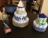 diaper cake baby shower honest nautical ocean