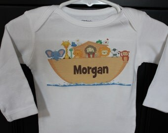 Noah's Ark Personalized bodysuit or toddler shirt