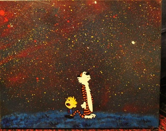Calvin and Hobbes Galaxy Painting