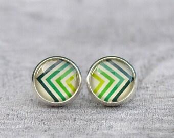 """Silver Stud Earrings """"Ethno l"""""""