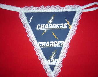 Womens SAN DIEGO CHARGERS  G-String Thong Female Nfl Lingerie Football Underwear