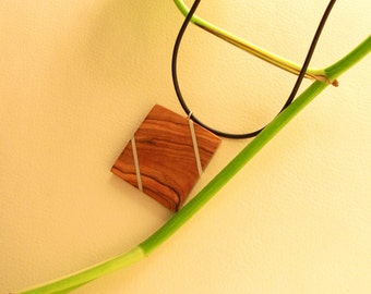 Pendant made from olive wood