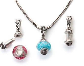 WHIMSY Worldwide Sterling Interchangeable Bead Pendant 'Juliet', compatible with Trollbeads, Pandora, and Chamilia!