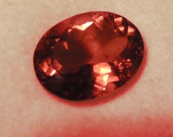 Pink Peach Gemstone,Paradprasha,  Oval Gemstone, Tourmaline ,9 x 11, eye clean ,2.70 ct
