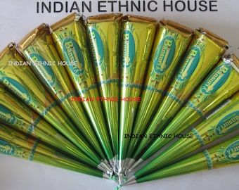 12 bansuri henna cones all the way from india freshly made great henna color reddish brown. Black Bedroom Furniture Sets. Home Design Ideas