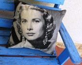 Pin Up Cushion Grace Kelly Pillow Cover Retro Rockabilly Spotty Home Decor Polka Dot Burlesque Decoration