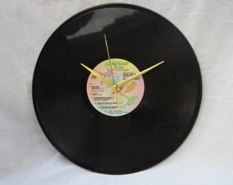 Starship Vinyl Record Wall Clock