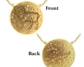 Aries: COURAGE (The Ram) Astrology Necklace