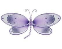 "DRAGONFLY WALL ART - Purple 11"" Avery - decoration hanging nylon decor nursery wall ceiling party nursery room girls bedroom baby shower"