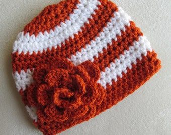 Texas Longhorns Baby Girl Hat Toddler Child Women's Adult Crochet Beanie