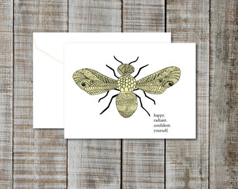 "Greeting Card ""Bee Yourself""- Blank"