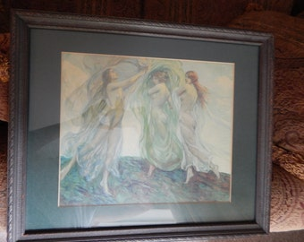 Louis F. Berneker Antique Framed Print