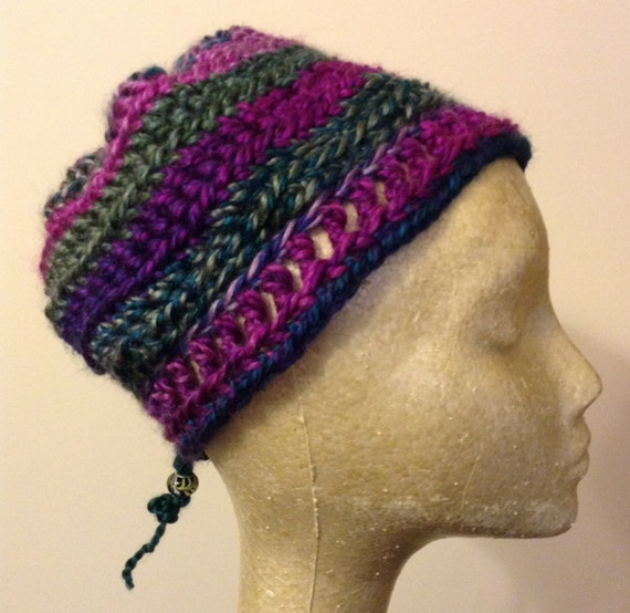 Free Crochet Pattern Multi Colored Hat : Multi-Colored Handmade Crochet Hat