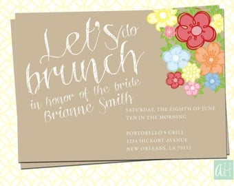 bridal brunch invitation brunch bridal shower invitation, Einladung