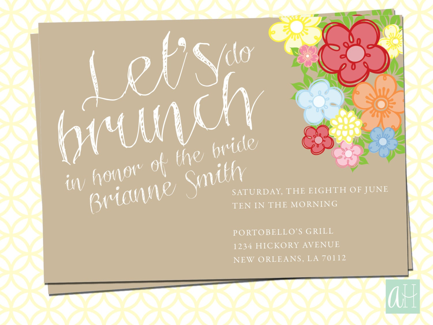 Printable bridal brunch invitation let 39 s do brunch for Wedding brunch invitations