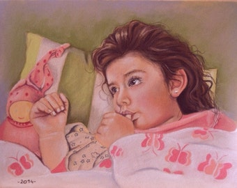Your custom from photo to pastel portrait