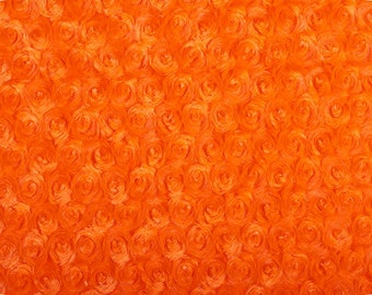 Minky - orange rose - sold in 1 yard increments