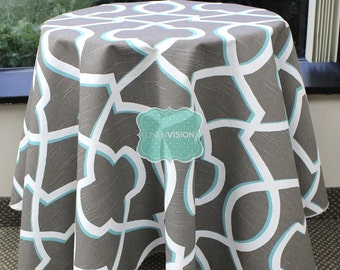 Tablecloth - Premier Prints - MORROW Damask - Spirit Brown - Choose Your Size - Table Linen Wedding Home Decor Dining Kitchen