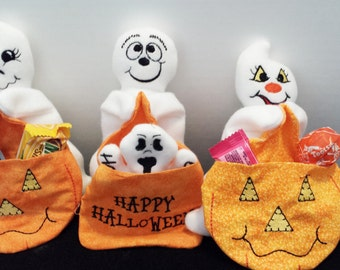 Adorable Ghost Dolls with Pocket Blankies