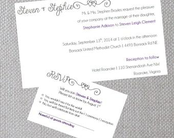 Simple Swirls Wedding Invitation Set