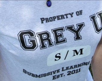 Grey U Collegiate Ladies Tee, inspired by Fifty Shades of Grey Trilogy