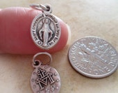 Miraculous Medal, Teeny Tiny, Virgin Mary Bracelet Charm Medallion, Religious, Rosary Parts, Catholic Jewelry Supplies