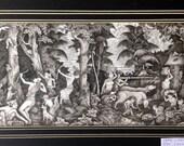 Hunters - Keliki miniature painting, Bali