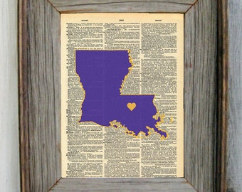 LSU Dictionary Art Print