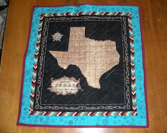Quilted Map of Texas - Southwest trim