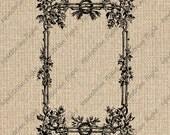 INSTANT DOWNLOAD Antique Illustration Frame Images Vintage Frame Clipart Frame Download Frame Digital Sheet Download Iron On 300dpi HQ