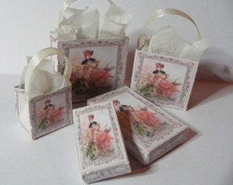 Dolls House Miniature Mademoiselle Boxes & Bags Download