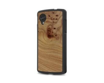 Google Nexus 5 #WoodBack Real Wood Case - Carpathian Elm Burl (FREE and Fast Delivery)