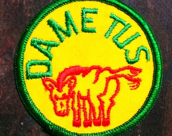 "Vintage 1960's ''Dame Tus"" Embroidered Sew -On Patch"