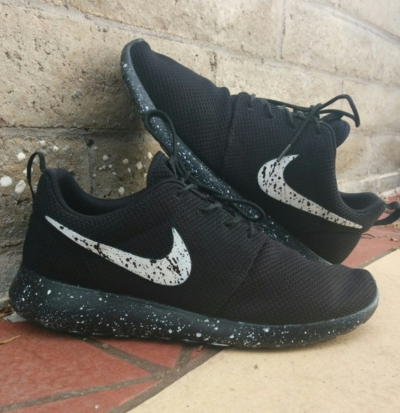 Nike Roshe run Oreo splatter by CleanKickCustoms on Etsy
