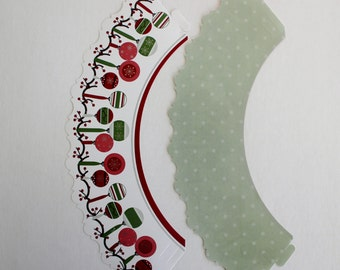 Christmas Ornament Cupcake Treat Wraps