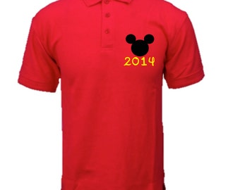 Mickey Mouse Minnie Mouse Polo Vacation T-Shirt  Disney Inspired Birthday Family Custom T-Shirt Disney Family Vacation T-Shirt