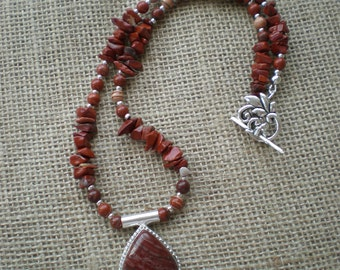 Red Jasper and Sterling Silver