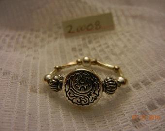 Stretch ring. Silvertone #200008