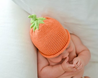 Knitting Pattern - Pumpkin Baby Hat Knit Pattern