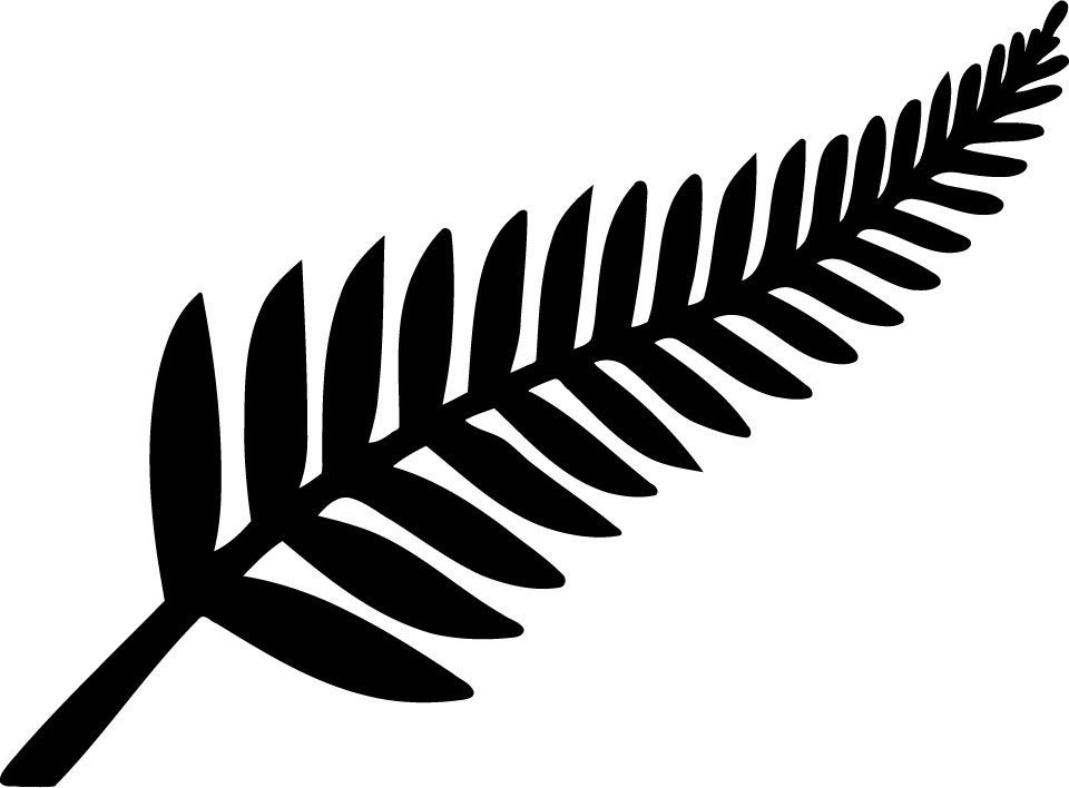 Line Drawing Of New Zealand : New zealand silver fern die cut decal car by