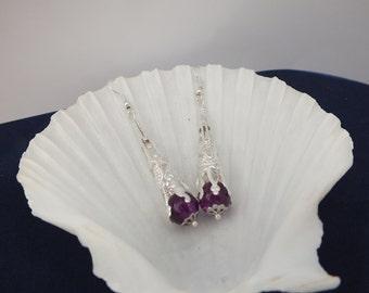 Silver Filigree Bead Earrings