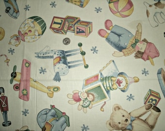 Baby Toys Cotton Fabric by the Half Yard