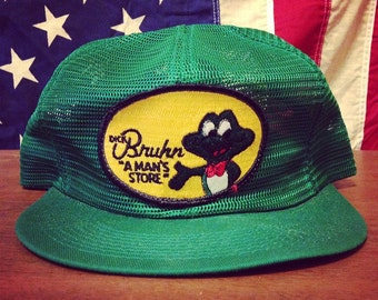 Vtg 80's Trucker Hat - Green