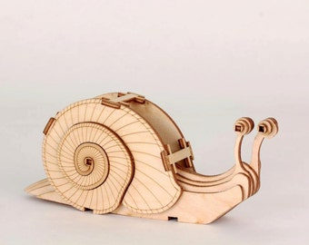 Laser Cut Plywood Snail