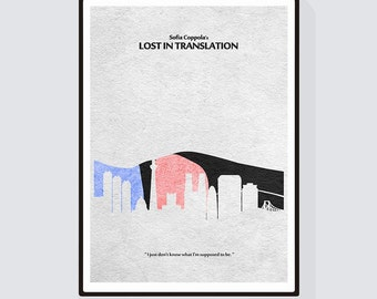 Lost in Translation Minimalist Alternative Movie Print & Poster