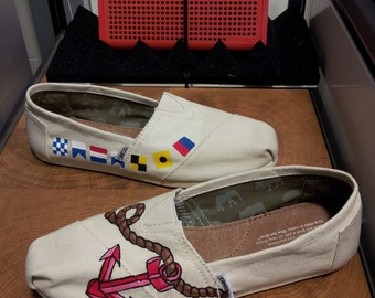 Toms Shoes Customized Nautical Flags, Anchor & Rope
