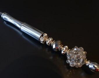Statement Pen™ Silver Dazzle Bead Pen